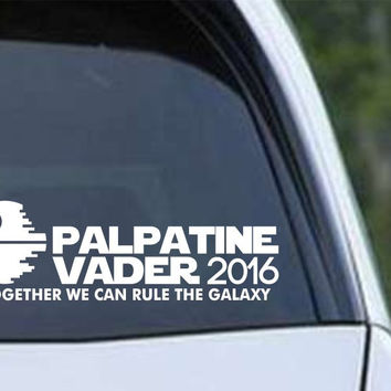 Star Wars - Palpatine Vader Presidential Election Die Cut Vinyl Decal Sticker