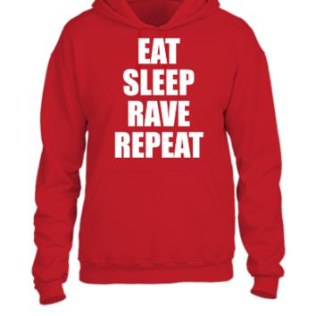 Eat Sleep Rave Repeat EDM Design 6 - UNISEX HOODIE