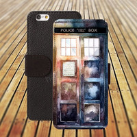 Police Box Rainbow iphone 5/ 5s iphone 4/ 4s iPhone 6 6 Plus iphone 5C Wallet Case , iPhone 5 Case, Cover, Cases colorful pattern L006