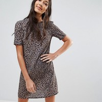 Oh My Love Tall Leopard Print T-Shirt Dress at asos.com