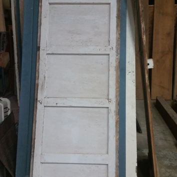 5 Panel Antique Door in White FREE SHIPPING