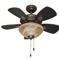 "Beverly Place 32"" Oil Rubbed Bronze Ceiling Fan"