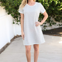 Day Dream T-Shirt Dress - Grey