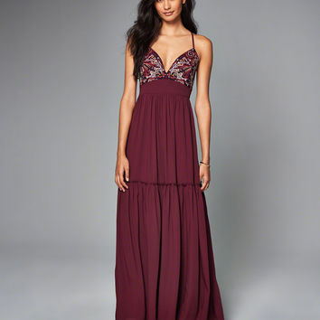 Womens Embroidered Maxi Dress | Womens Dresses & Rompers | Abercrombie.com