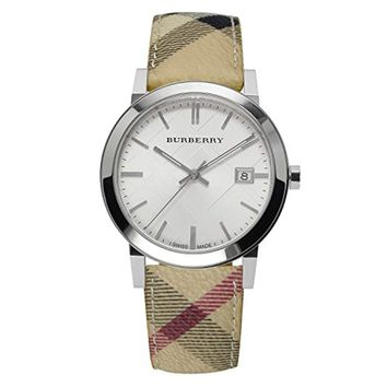 Burberry BU9025 Watch – for Women, Leather Strap