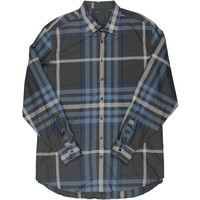 Perry Ellis Mens Big & Tall Poplin Plaid Button-Down Shirt
