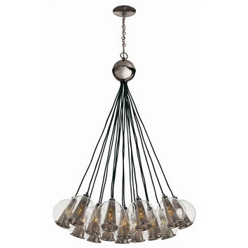 Arteriors Home Caviar Adj Brown Nickel/Smoke Glass Bouquet