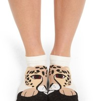 kate spade new york cheetah no-show socks | Nordstrom