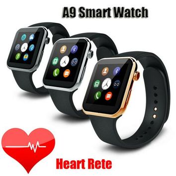Smartwatch A9 Bluetooth Smart watch for Apple iPhone IOS Android Phone relogio inteligente reloj Smartphone Watch 2016 New
