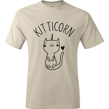 Cute Cat T-Shirt Kitty Kitten T Shirt Tee Mens Womens Ladies Funny Humor Gift Present I Love Cats Animal Lover Unicorn Caticorn Heart Pet