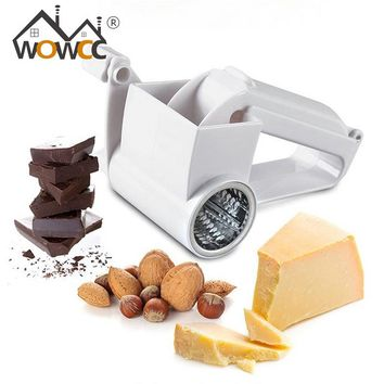 1Pcs Classic Plastic Hand-cranked Drum Cheese Grater Rotary Ginger Slicer Grater Chocolate Slicer Vegetable Grater