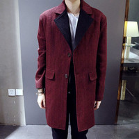 Oversize Men's Long Winter Coat