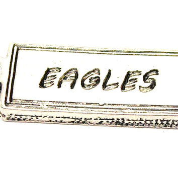 Eagles Tab Genuine American Pewter Charm