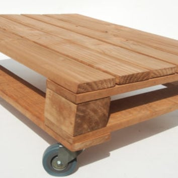 Pallet Coffee Table With Castor Wheels