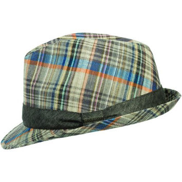 Stetson Classic Men's Madras Fedora Hat M Plaid