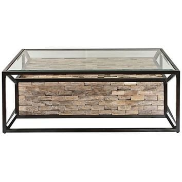 Uttermost Kono Dark Bronze and Clear Glass Coffee Table - #32V89 | Lamps Plus