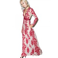 TEMECULA WINE MAXI DRESS