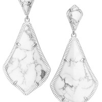 Alexis Earrings in White Howlite - Kendra Scott Jewelry