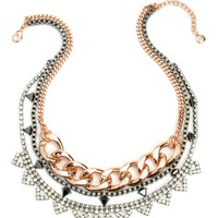 Chain, Pave And Stud Necklace by Juicy Couture