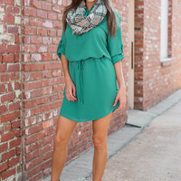 See You Swoon Dress, Teal