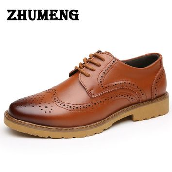 Fashion Genuine Leather for Men Shoes Lace Up Casual Business Men Shoes Men Wedding Shoes Men Dress Shoes