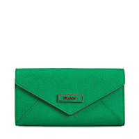 Saffiano Leather Large Envelope Carryall, DKNY