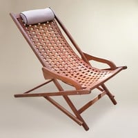 Wood Catania Swinger Lounger with Pillow