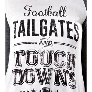 Raglan Tee-Tailgates,Touch..Charcoal-Ivory