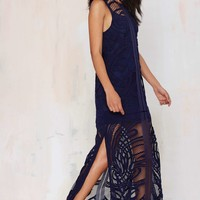 Finders Keepers We Are Nowhere Lace Maxi Dress