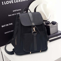 Large Leather Backpack Daypack