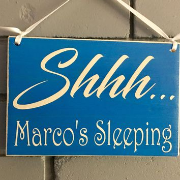 8x6 Custom Name Sleeping Wood Sign