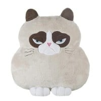 Grumpy Cat Shaped Pillow - Stuffed Animal by Ganz (HGC13135)