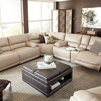 Cindy Crawford Auburn Hills Taupe 3Pc Reclining