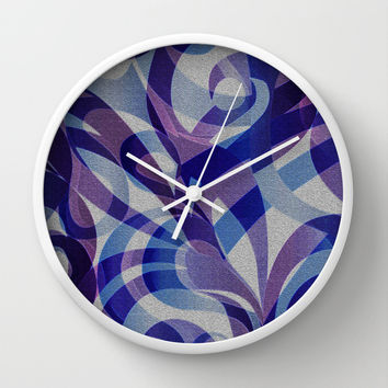 Floral Abstract G287 Wall Clock by MedusArt