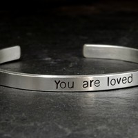 Bracelet in sterling silver with You are loved
