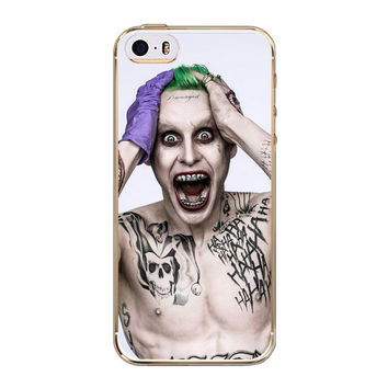 For iPhone 5S Case Suicide Squad Joker Harley Quinn Soft TPU Protactive Case Cover for iPhone 5 5S SE