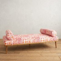 Tile Print Darcy Daybed by Anthropologie in Mango Size: One Size Furniture