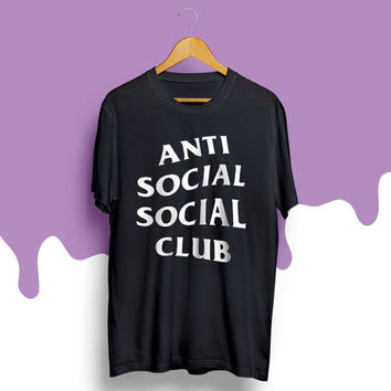 Anti Social Social Club t-shirt ASSC shirt The club tee Tumblr shirt clothing tshirt supreme stussy