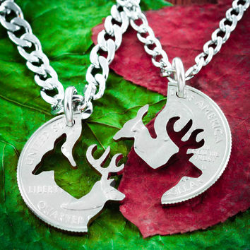 Buck and Doe Couples Necklace set by Namecoins