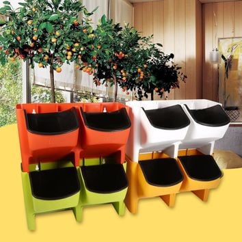 Pocket Candy Plastic Wall Hanging Flower Pot