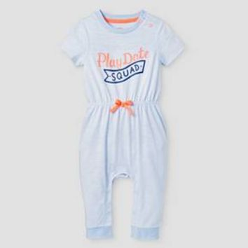 Baby Girls' Playdate Romper - Baby Cat & Jack™ Blue