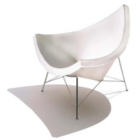 Coconut Chair in White Leather - Modern Classic Design