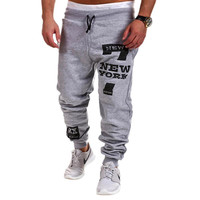 Outdoors Cargo Loose Trousers Men Sweat Leisure Joggers Pants