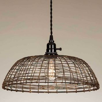 Woven Wire Pendant Lamp