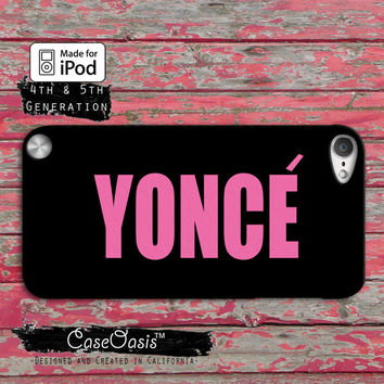 Yonce Beyonce Inspired Pink Cute Drunk in Love Flawless Case iPod Touch 4th Generation or iPod Touch 5th Generation Rubber or Plastic Case