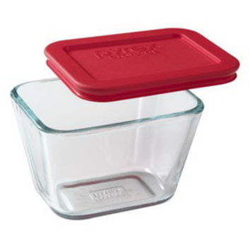 Opentip.com: PYREX 1070801 Simply Store 1.875 Cup Rectangular Dish w/ Red Lid