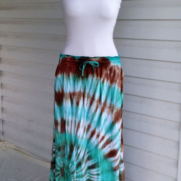 Tie-Dye Maxi Skirt, Long Skirt, Hippie Skirt, Women, Plus Size