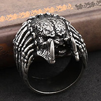 Men's Vintage Monster Tusk Band Rings