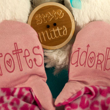 State Mitts -Totes Adorbs - Whimsically Fun Mittens - Stick 'em up and make a Statement, Keep your fingers