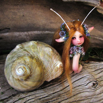 A Pretty Mermaid Fairy Mersnail by Celia Anne Harris OOAK - Made to Order